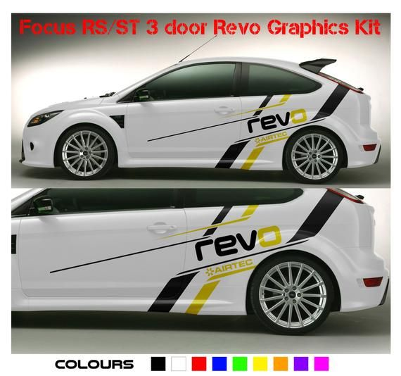 Ford Focus St Rs Vinyl Decal Sticker Graphics Kit Ford Focus St Car Sticker Design Ford Focus