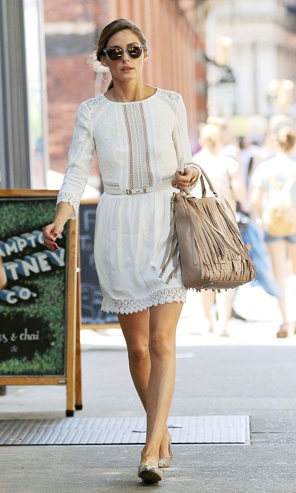 Olivia Palermo In A White Summer Dress - Thursday 26th June