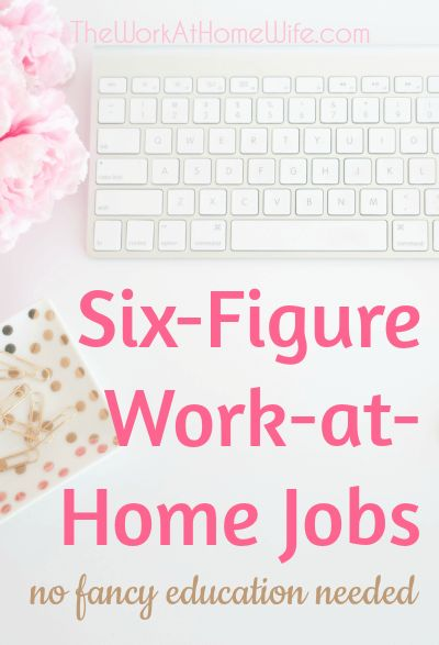 It's the dream of many to work from home earning six figures per year. Despite what you may be thinking, it's really not that unusual. There are many women doing just that and without a fancy degree.
