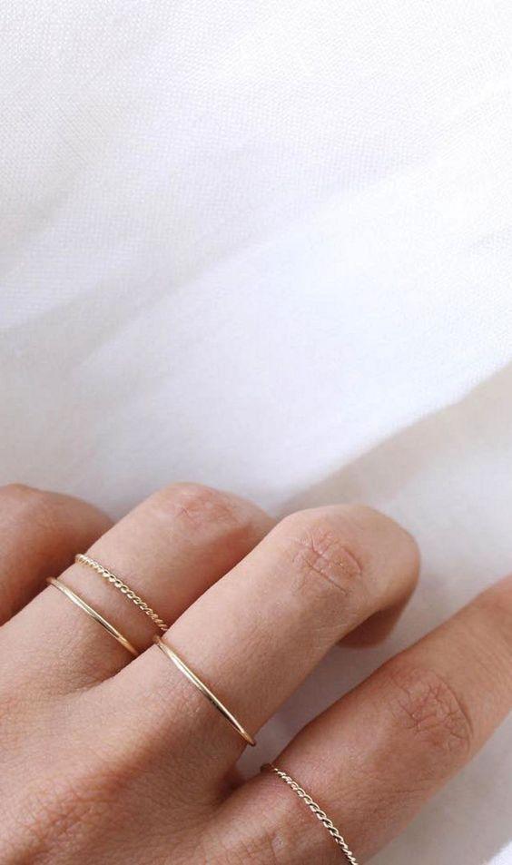 25 + › Nette Ideen für Schmuck und Accessoires. Einfache Goldringe. #Zubehör …