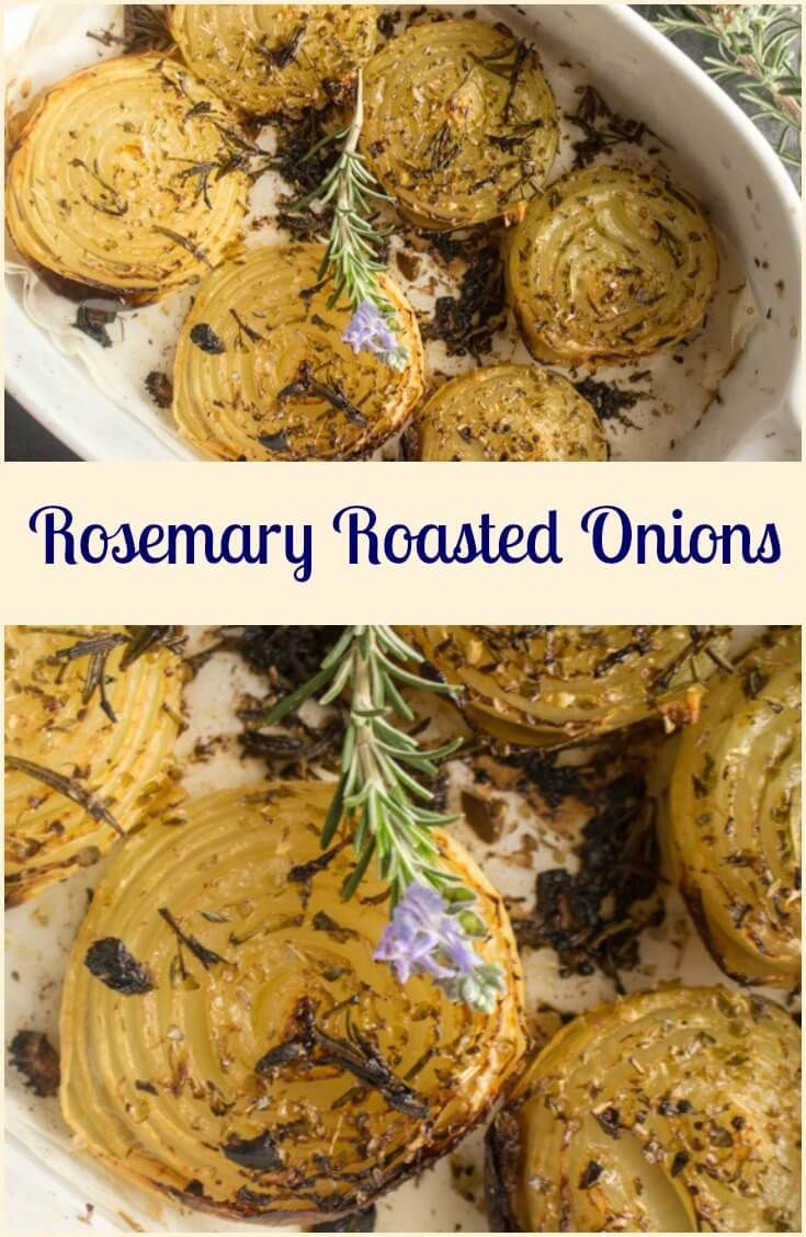 Rosemary Roasted Onions, whole roasted onions sprinkled with rosemary & spices and drizzled with olive oil. So yummy. via /https/://it.pinterest.com/Italianinkitchn/