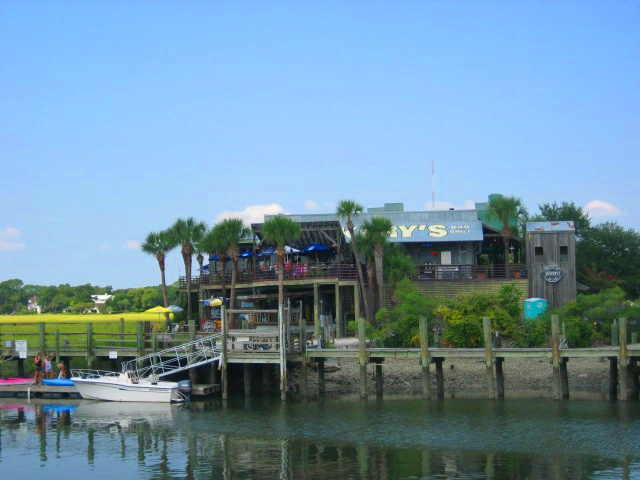 Vickery's restaurant on Shem Creek in Mt. Pleasant offers incredible waterfront views!