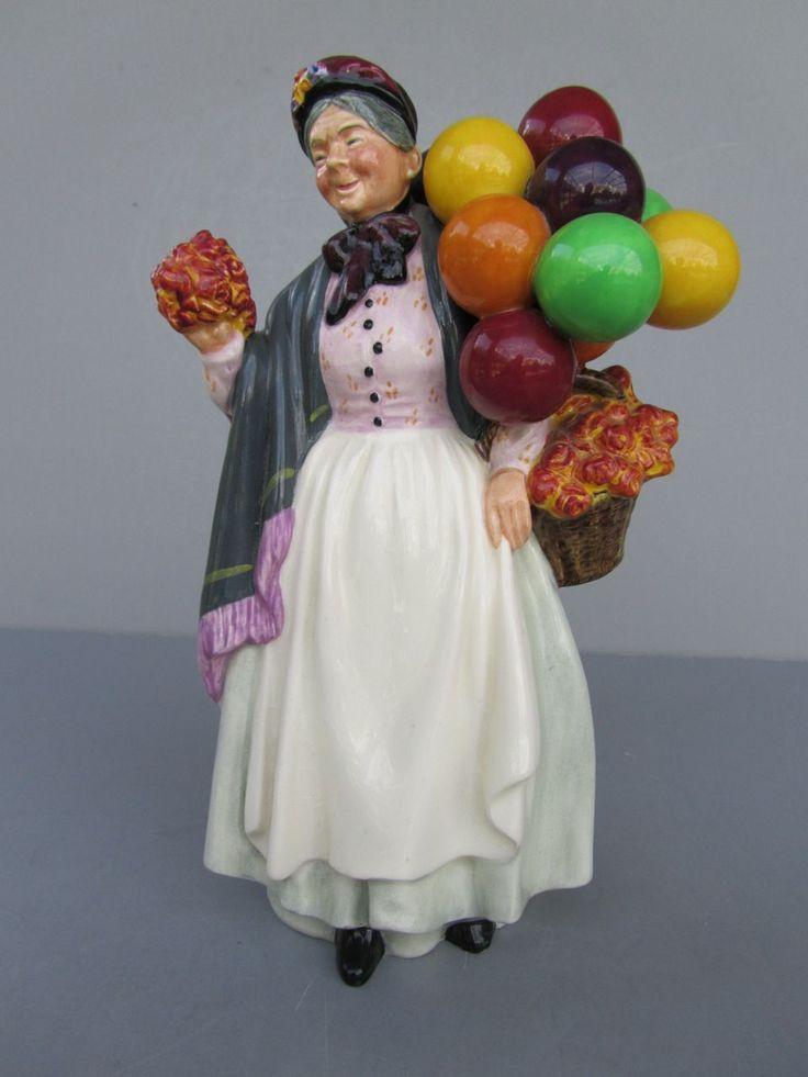 "Vintage Royal Doulton Figurine - ""Biddy Pennyfarthing"" - NO. HN1843 ...                                                                                                                                                                                 Plus"