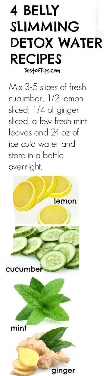 #detox water recipe - Detox water works for flushing out all the unwanted stuff from body thereby keeping you healthy; hence, they work equally great in keeping you fit and maintaining a lean figure. #diet