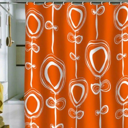 Rachael Taylor - Contemporary Orange Shower Curtain