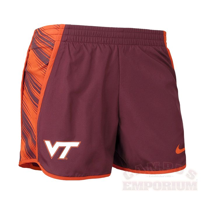 Womens Virginia Tech Nike Warpspeed Pacer Shorts  d43de3c9f