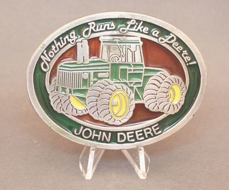 Vintage John Deere belt buckle available at our eBay store!