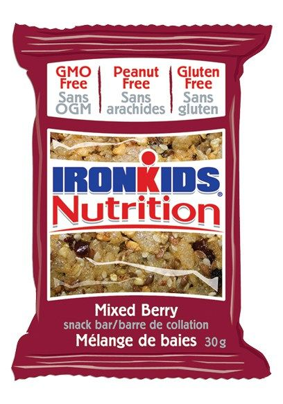 IronKids Nutrition Snack Bars - Mixed Berry #nutfree #glutenfree #gmofree