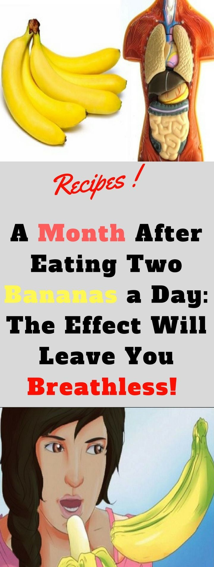 A Month After Eating Two Bananas a Day: The Effect Will Leave You Breathless!! -