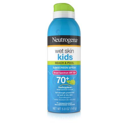 Neutrogena Wet Skin Kids Sunscreen Spray Broad Spectrum SPF 70+, 5 Oz, Multicolor