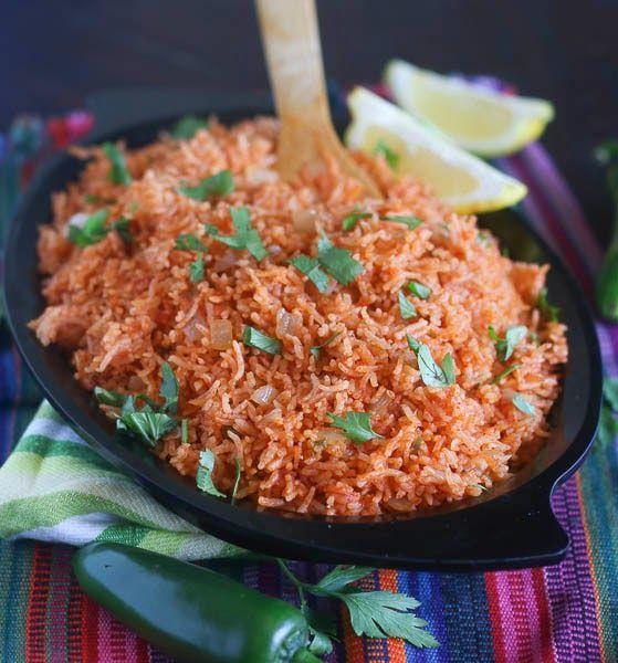 Запеченный рис по-мексикански