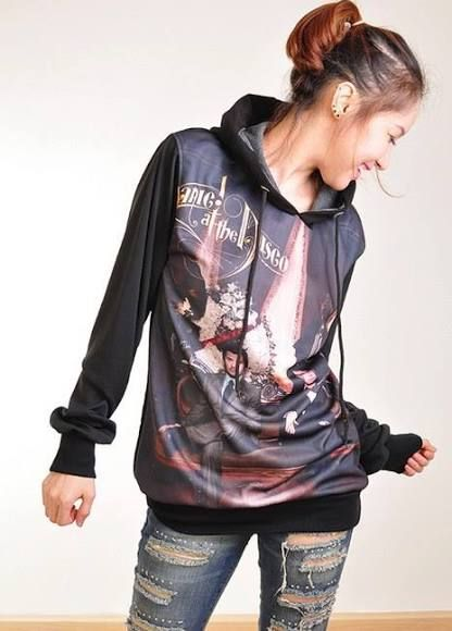 Panic At The Disco vices & virtues Punk Rock Hoodie Jacket Biker Sweater Tops Women Girl Sz