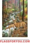 Deer Stream Garden Flag
