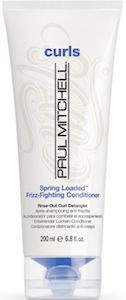 Paul Mitchell Spring Loaded® Frizz-Fighting Conditioner. Paul Mitchell  Spring Loaded® Frizz-Fighting Conditioner creamy rinse-out conditioner tackles tangles, de-frizzes and defines curls. Replenishes moisture with jojoba oil and hydrating natural extracts Leaves hair soft, smooth and frizz-free. Color safe. Paraben free. Gluten free. Vegan.