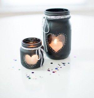 DIY+Chalkboard+Mason+Jar+Candle+Centerpiece
