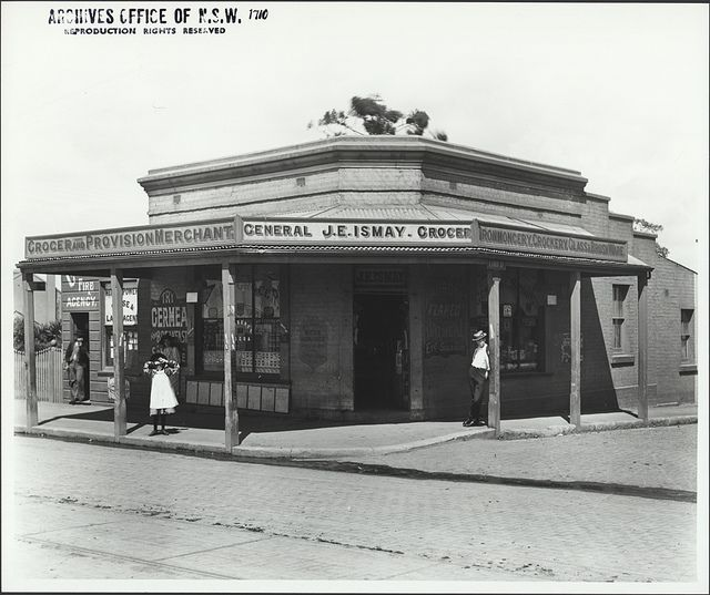 Store of J.E. Ismay Newtown pre 1900 by State Records NSW, via Flickr