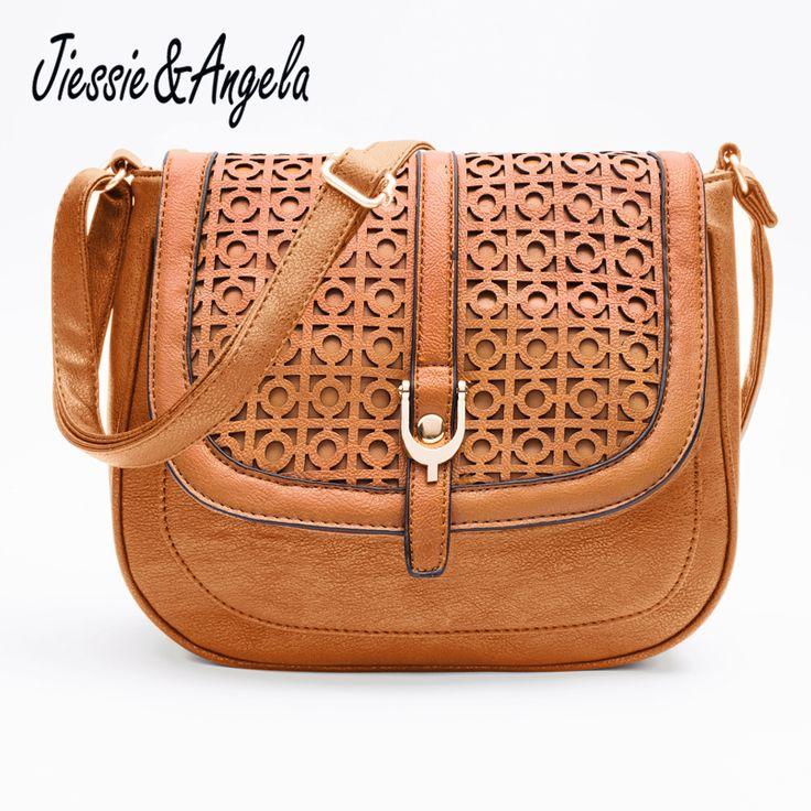 Jiessie & Angela Hot Sale Women Messenger Bag Leather Handbag bolsas femininas Vintages Hollow Out Cross Body Shoulder Bag //Price: $14.28 & FREE Shipping //     #hashtag4