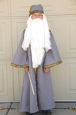 Easy Dumbledore costume!!