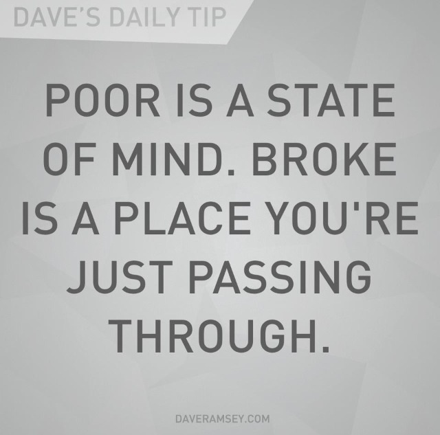 not poor just broke But she also said to me, you're not poor you're just busted, you're just broke and then she explained to me and to the rest of the children, to be poor is a.