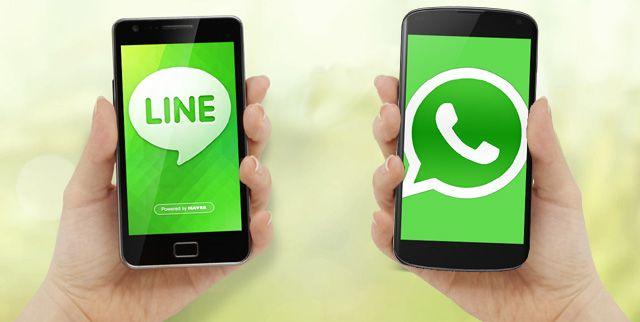 Infografía Whatsapp Vs LINE ¿Cuál es mejor?