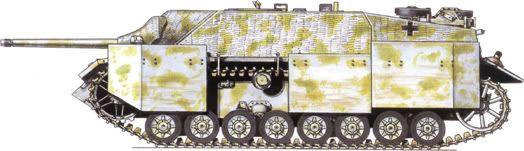 German Camouflage Jagdpanzer IV Unknown Unit – Hungary, 1945