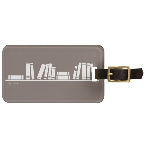 Books lovers! luggage tag from http://www.zazzle.com/books_lovers_luggage_tags-256247145087556633
