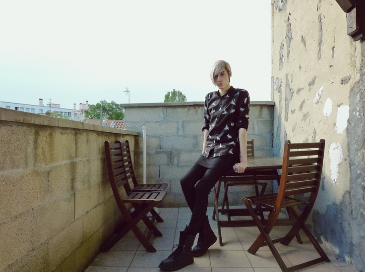 Shirt from DEEPSTYLE korea, birds print ~  http://thejupitarian.blogspot.fr/