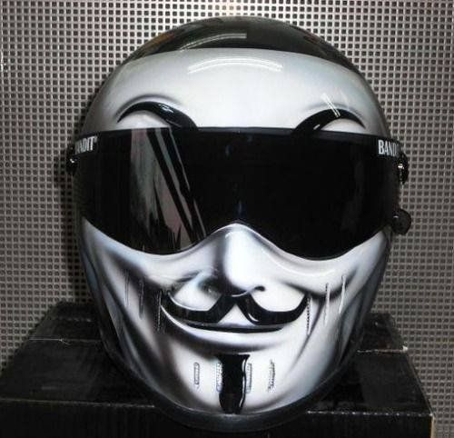Anonymous Motorcycle Helmet | Peel and Stick Vinyl Decal Sticker