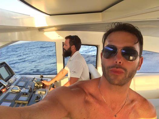 Super Capitano Aleandro 🇪🇸🇪🇸🇪🇸🚣🏻🚣🏻🏊🏼🏊🏼 #ibiza #spagna #mare #barca