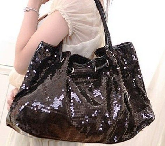 Sequenced Black Evening Bag. Starting at $1