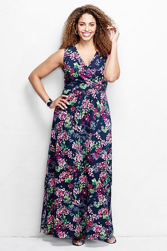 Lands End Plus Size Maxi Dress Clothing, Shoes & Jewelry : Women : Clothing : Dresses : big sizes http://amzn.to/2luZtGE