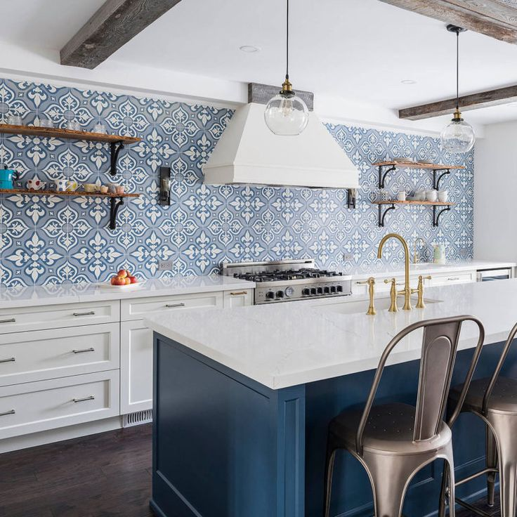 75 blue backsplash ideas navy aqua royal or coastal blue design blue kitchen tiles on kitchen decor blue id=85378