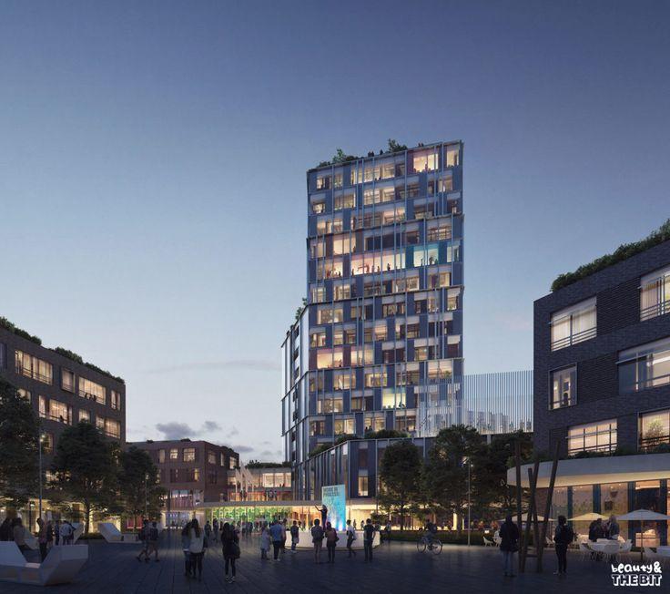 B&TB + C.F. Møller: COMPETITION WON. VIA University College in Horsens - Ronen Bekerman - 3D Architectural Visualization & Rendering Blog