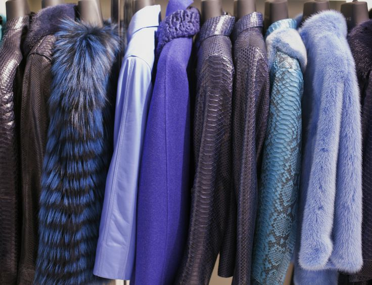 All shades of blue in leather, python leather, suede, fur at ADAMOFUR #fur #furstyle #furleather #luxury #shopping #istanbul