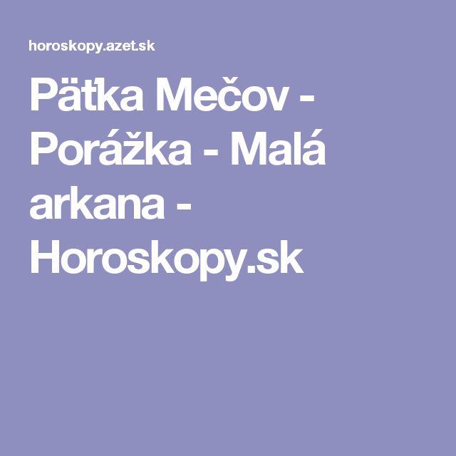 Päťka Mečov - Porážka - Malá arkana - Horoskopy.sk
