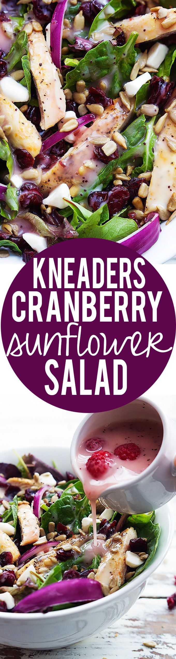 Amazing copycat recipe for Kneader's Cranberry Sunflower Salad! | Creme de la Crumb