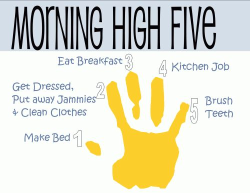 Helping to teach accountability... I think I many modify this for our Morning High Five.