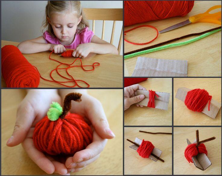 pomme en fils de laine