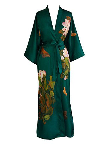 Old Shanghai Women's Print Kimono Robe Long - Floral, peony & butterfly- emerald Old Shanghai http://www.amazon.com/dp/B00L4KHQ8Y/ref=cm_sw_r_pi_dp_05t2vb1GR13FX