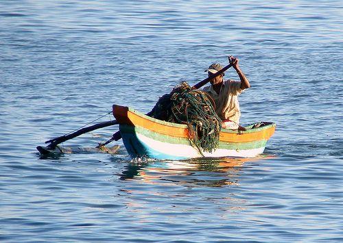 Lonely Fisherman, Beruwala, Sri Lanka