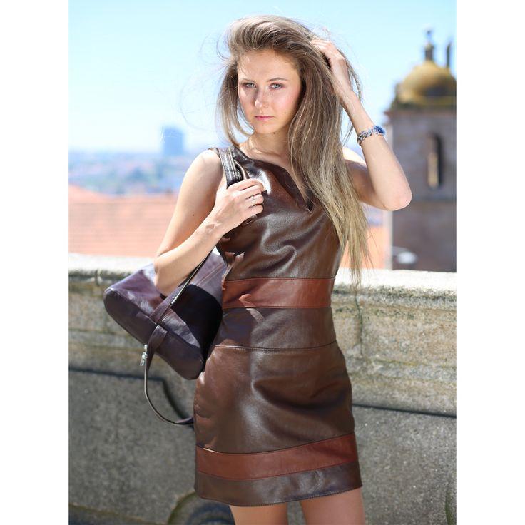 Leather Dress #leather #dress #Woman #vestido #pele #mulher #desubito