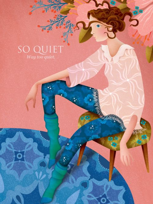 """""""So quiet"""", illustration poster by Annika HIltunen --------- POSTER LOVE! Just in time for Valentine's Day we added a new bunch of smashing posters to Napa's Print Store! Show some love to your dear ones and spoil them with beautiful posters illustrated by Napa's artists. For example a matt coated quality poster in size of 30 x 40cm for 29€ !! Click to our store to see sizes & prices, and of course the whole stylish collection of posters by the great Napa Talents!"""