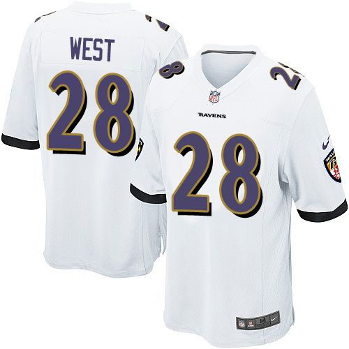 Mens Nike NFL Baltimore Ravens Ray Rice Game White Jersey on sale