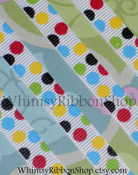 3 yards M2M 3/8 Seuss ical Colored Big mini by WhimsyRibbonShop, $4.25