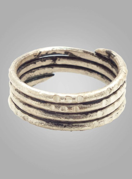 Ancient Viking Coil Ring C.866-1067A.D. Size 11(19.1mm)(BRR212)