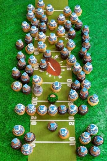 Boys Football Party Cake.