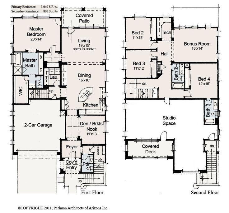 1363 best floorplans images on pinterest house design for Home plans arizona