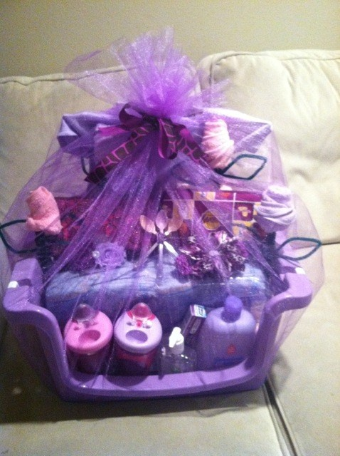 THE MOMMY LOVES PURPLE!!  BABY SHOWER GIFT!