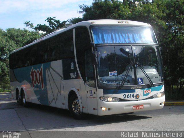 Ônibus da empresa Auto Viação 1001, carro 2614, carroceria Marcopolo Paradiso G6 1200, chassi Volvo B12R. Foto na cidade de São Paulo-SP por Rafael  Nunes Pereira, publicada em 28/07/2014 18:52:18.