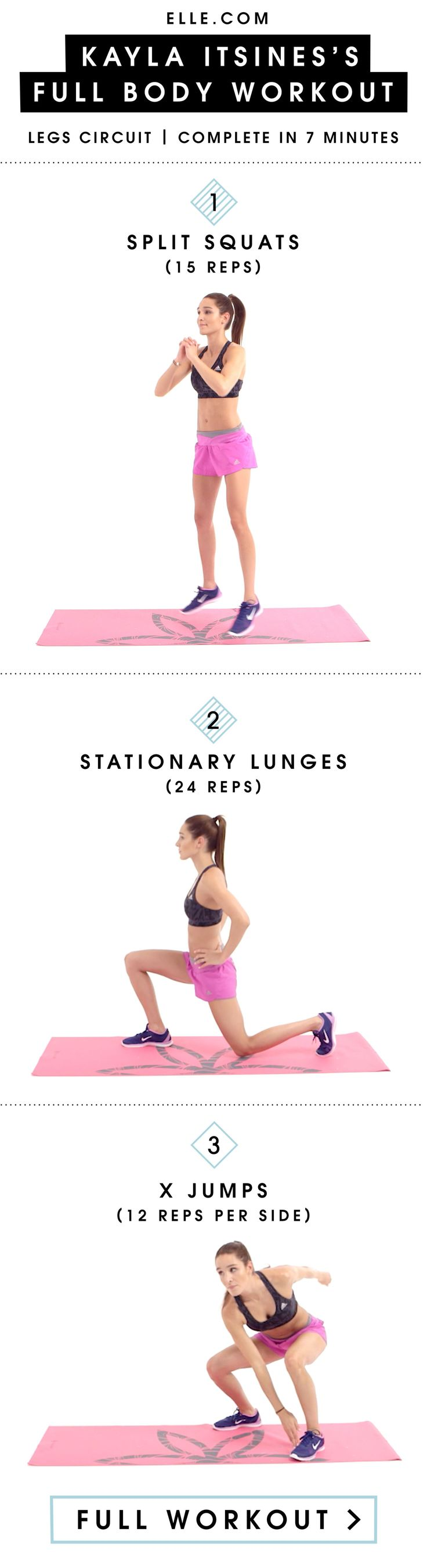 Get Toned Legs In 3 Equipment-Free Moves From Kayla Itsines - ELLE.com